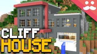 Cliff Side PISTON HOUSE in Minecraft!