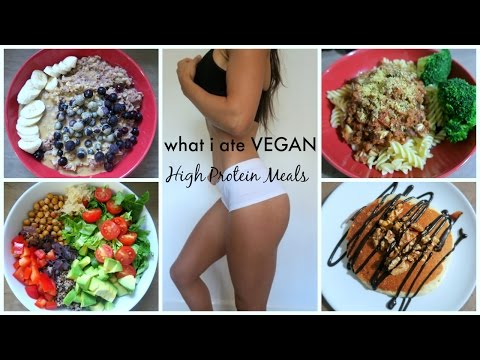 Video HIGH PROTEIN BODYBUILDING MEALS | WHAT I ATE VEGAN