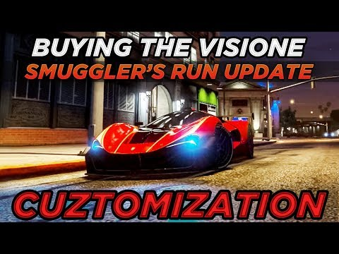 Buying The Grotti Visione Gameplay & LSC Customization (GTA Online Smuggler's Run Update)