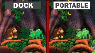 Donkey Kong Tropical Freeze Switch | Portable vs Dock | Graphics Comparison