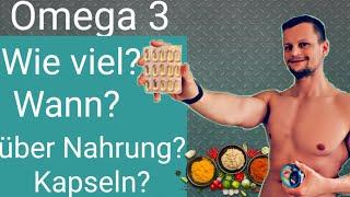 Omega 3 Fettsäuren - Dosierung, Anwendung, Vorteile und Folgen beim Mangel