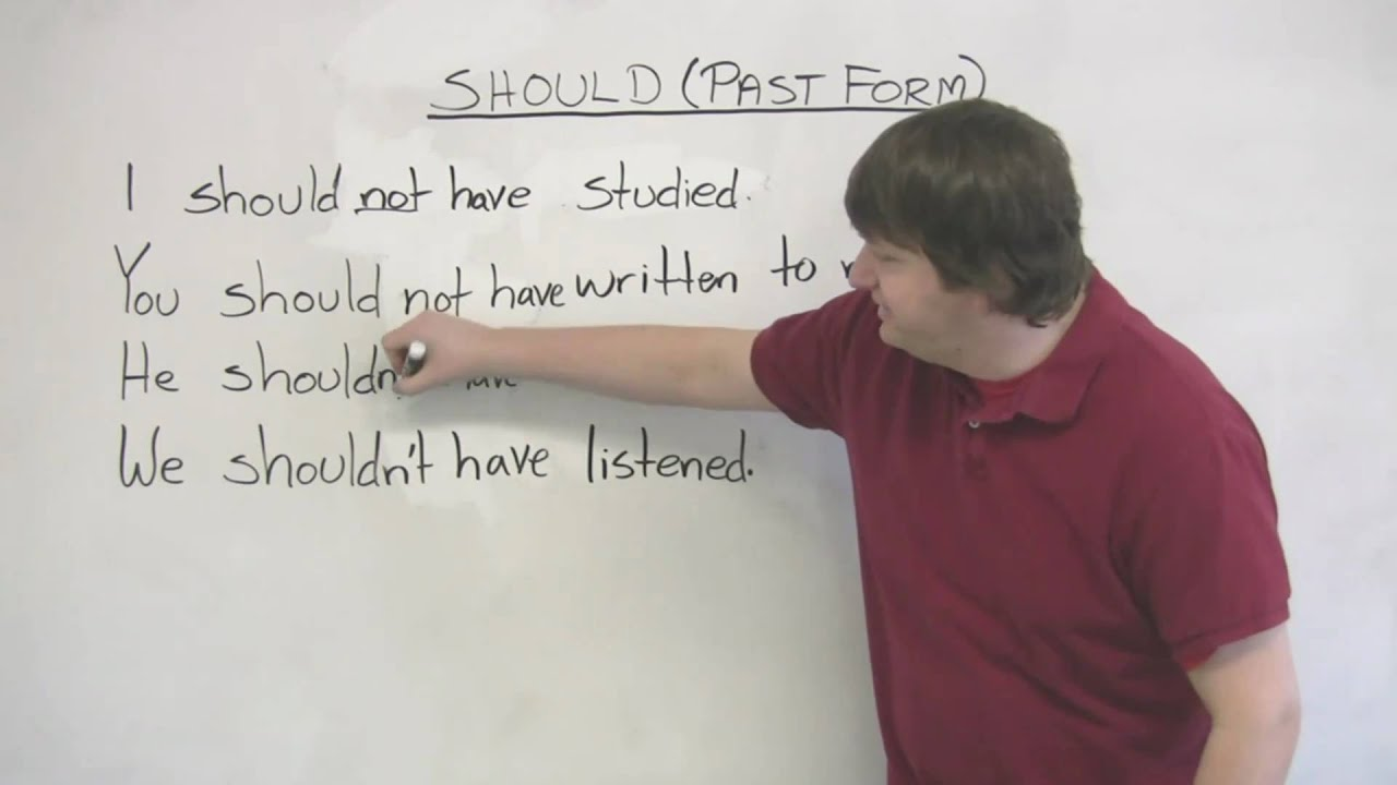 English Grammar Past Tense Of Should I Should Have You
