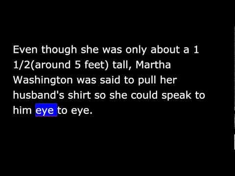 1st First Lady - Martha Washington