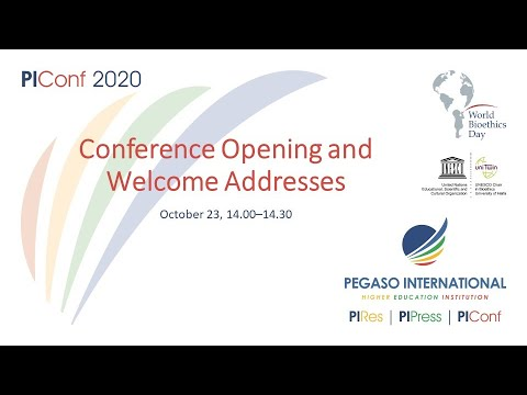 Conference opening and welcome addresses