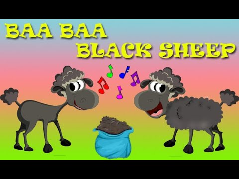 BAA BAA Black Sheep. Nursery Rhymes Children Songs