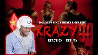 "REACTION | CEE JAY | KRAZY ""TOULIVER x BINZ x ANDREE RIGHT HAND Ft EVY"""