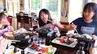 青森県西海岸ドライブまぐろステーキ丼の贅沢さと青池の美しさに感動三姉妹