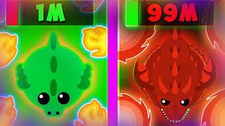 MOPE.IO EVOLUTION OF RED DRAGON! | WINS & FAIL