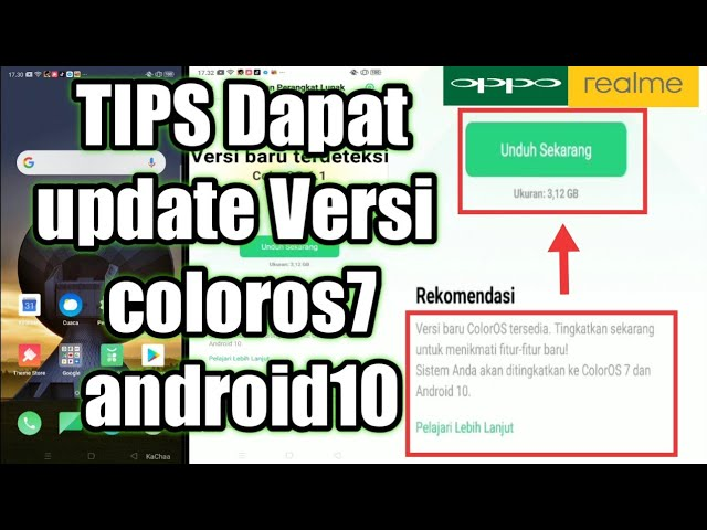 Update Coloros 7 Android 10 Oppo Realme