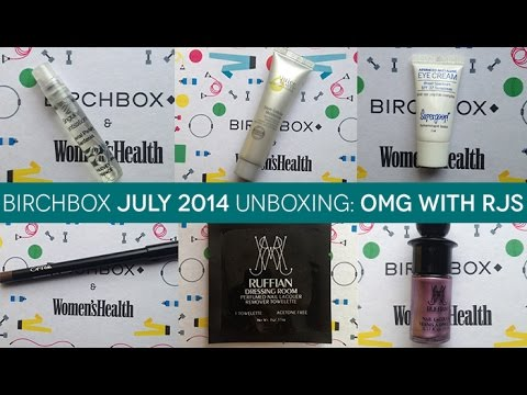 OMG with RJS: July 2014 Birchbox Unboxing