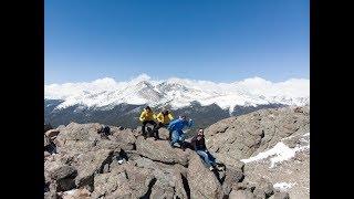 Hiking up Twin Sisters Peak Colorado