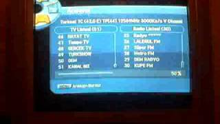 turksat 3A - sunny uydu alıcı - kanal arama