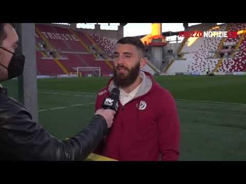 Triestina-Arezzo 2-2 - Intervista a Paride Pinna