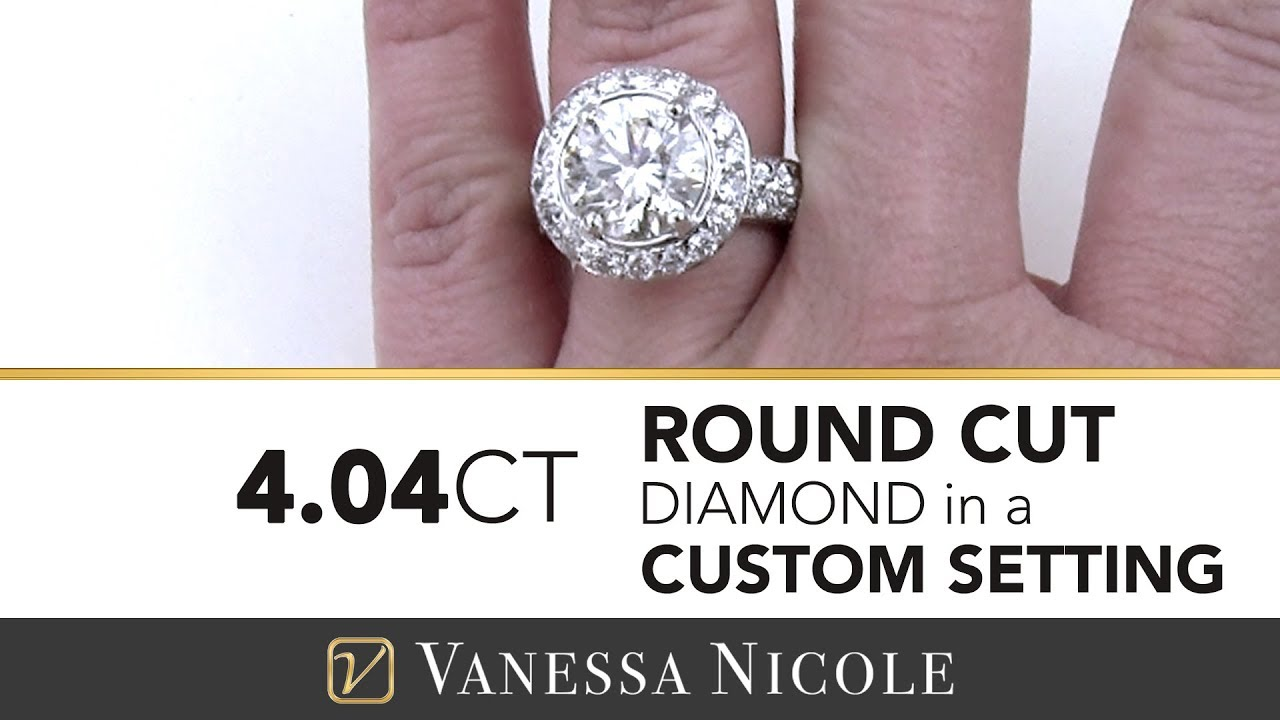 4.04ct Round Cut Diamond Ring