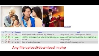 Any File Upload Download In Php Pdf File,rar File, File,image File, Etc.