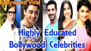 7 Highly Educated Famous Bollywood Celebrities - Bollywood Educated  Celebrities I Bollywood Viral