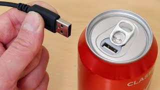 I Made a Coke Can USB Portable Power Bank - Phone Charger! - Video Youtube