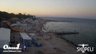 Odessa1.com - Черное море в прямом эфире, пляж «Ланжерон», Одесса, Black Sea, Odessa. Live.
