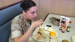 US Marines Mess Hall – What Marines Eat at MCAS Iwakuni, Japan