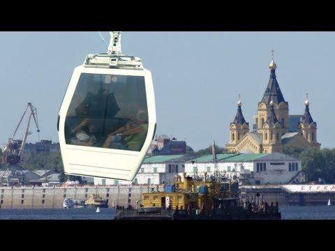 Нижний Новгород в HD. Канатная дорога Нижний-город Бор- канатный мост