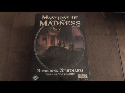 An unboxing Mansion of madness 2 ed Recurring Nightmares Figure and Tile Collection