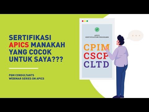 Perbedaan Sertifikasi APICS: CPIM, CSCP, CLTD - YouTube