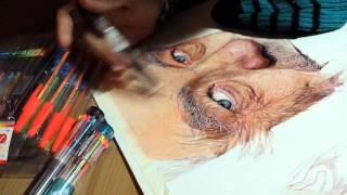 Ballpoint Pen Drawing (wip) Ian McKellen
