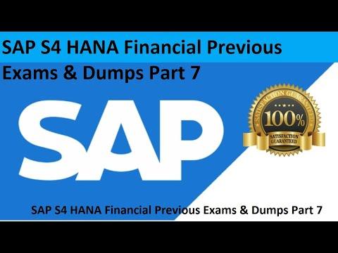 7 SAP S4 HANA Financial Previous Exams & Dumps Part 7 - YouTube