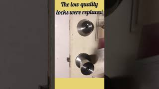 Schlage BE365 installed with an Andover style passage knob