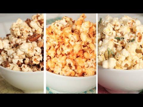 Homemade Flavored Popcorn 3 Ways