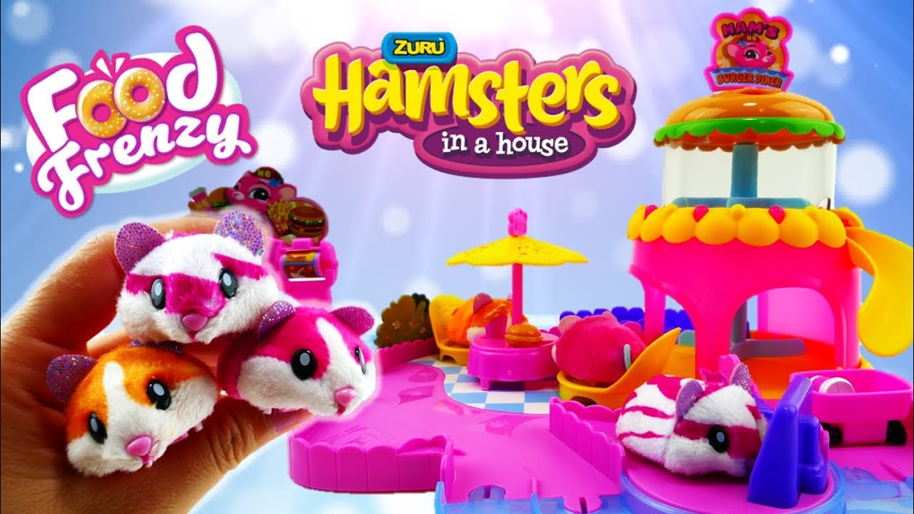 Hamsters in a House Food Frenzy Toys Hams Burger Diner Playset Review