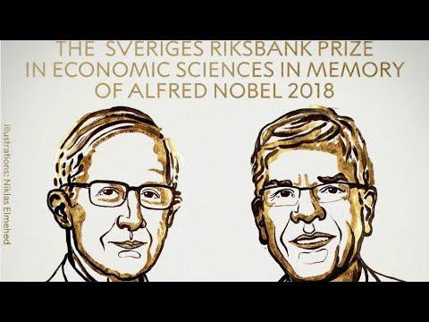 العرب اليوم - شاهد: الأميركيان وليام نوردهاوس وبول رومر يفوزان بجائزة نوبل للاقتصاد