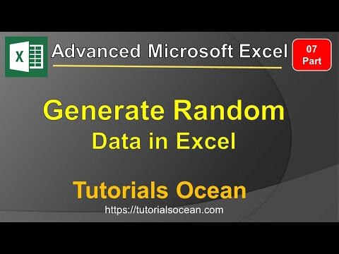 Part 7: Advanced Excel Course How to Generate Random Data in Excel in Urdu/Hindi