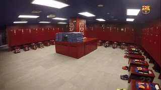 FC Barcelona dressing room before the game against UD Las Palmas