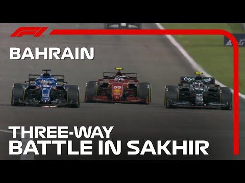 アロンソ、サインツ、ベッテルの3ワイドバトル動画 F1第1戦バーレーンGP(サクヒール)