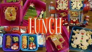 Christmas Themed School Lunch Week! 🎄 - Week 13  | Sarah Rae Vlogas |