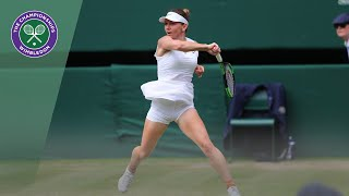 Simona Halep vs Elina Svitolina Wimbledon 2019 semi-final highlights