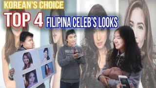 [Challenge #13] Korean's choice : TOP 4 Filipina young Celeb pick (Liz, Maine, Nadine, Kathryn)