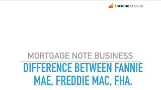 Difference Between FannieMae, FreddieMac and FHA