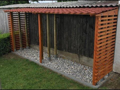Holzlager für Kaminholz selber bauen