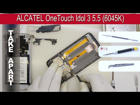 How to disassemble 📱 ALCATEL OneTouch Idol 3 5.5 (6045K/6045Y) Take apart Tutorial