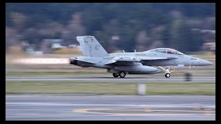 EA-18G Growlers departing PDX