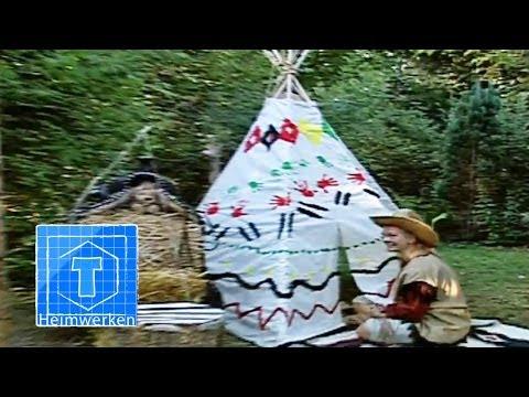 Indianerzelt (Tipi) kinderleicht bauen | ToolTown Garten