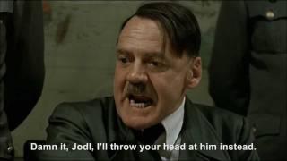 Hitler throws a book at President Obama