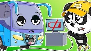 Цветные Длинные Машинки - Автобус Для Детей Мультики Про Машинки Для Малышей