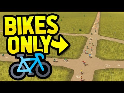 ONLY TRAVEL BY BICYCLES in CITIES SKYLINES