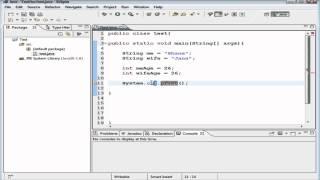 Beginner Java Tutorial #4 Declaring & Initializing Variables, Displaying Text
