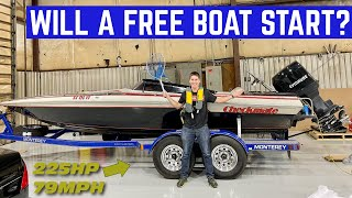 STARTING A FREE 225HP Boat That's Been Sitting For YEARS