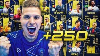 +250 SOBRES DE JUGADORES  PREMIUM!!   TODO EL EQUIPO TOTY EN SOBRES!!   FIFA 19