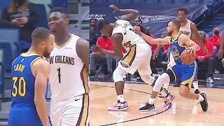 Stephen Curry SHOVES Zion Williamson On Shot & Destroys Pelicans! Warriors vs Pelicans